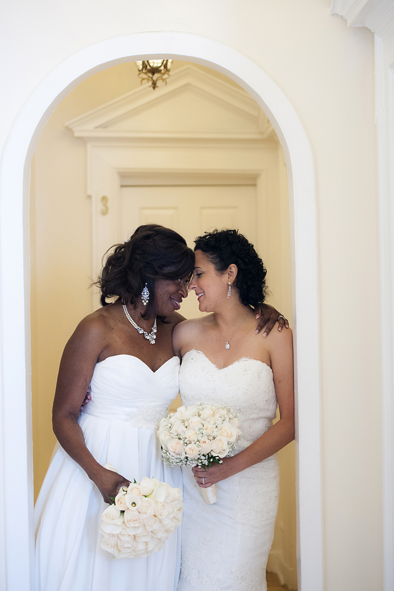 NYC gay wedding photographer | Portait of Brides