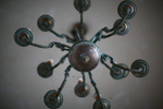 A chandelier at an abandoned mansion in Southeast Liberia.