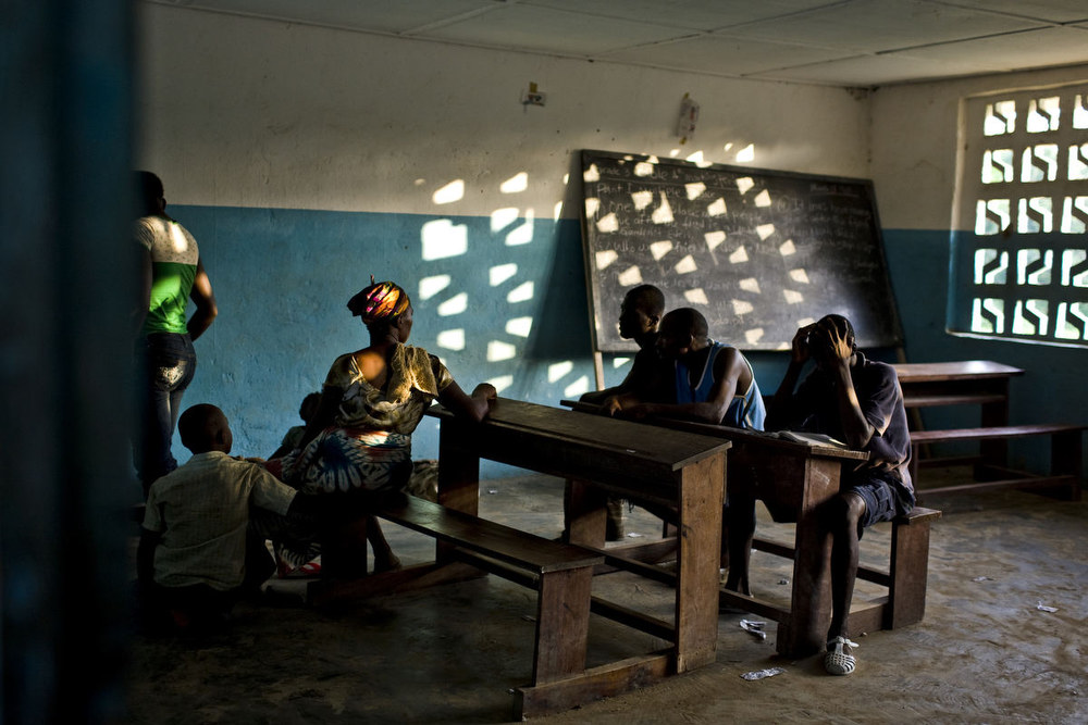 A school house on the Liberia-Ivory Coast border. March, 2011.