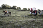 A horse leads the funeral procession of Kaiune Remikato in a village on the remote island of Sumba in Eastern Indonesia.