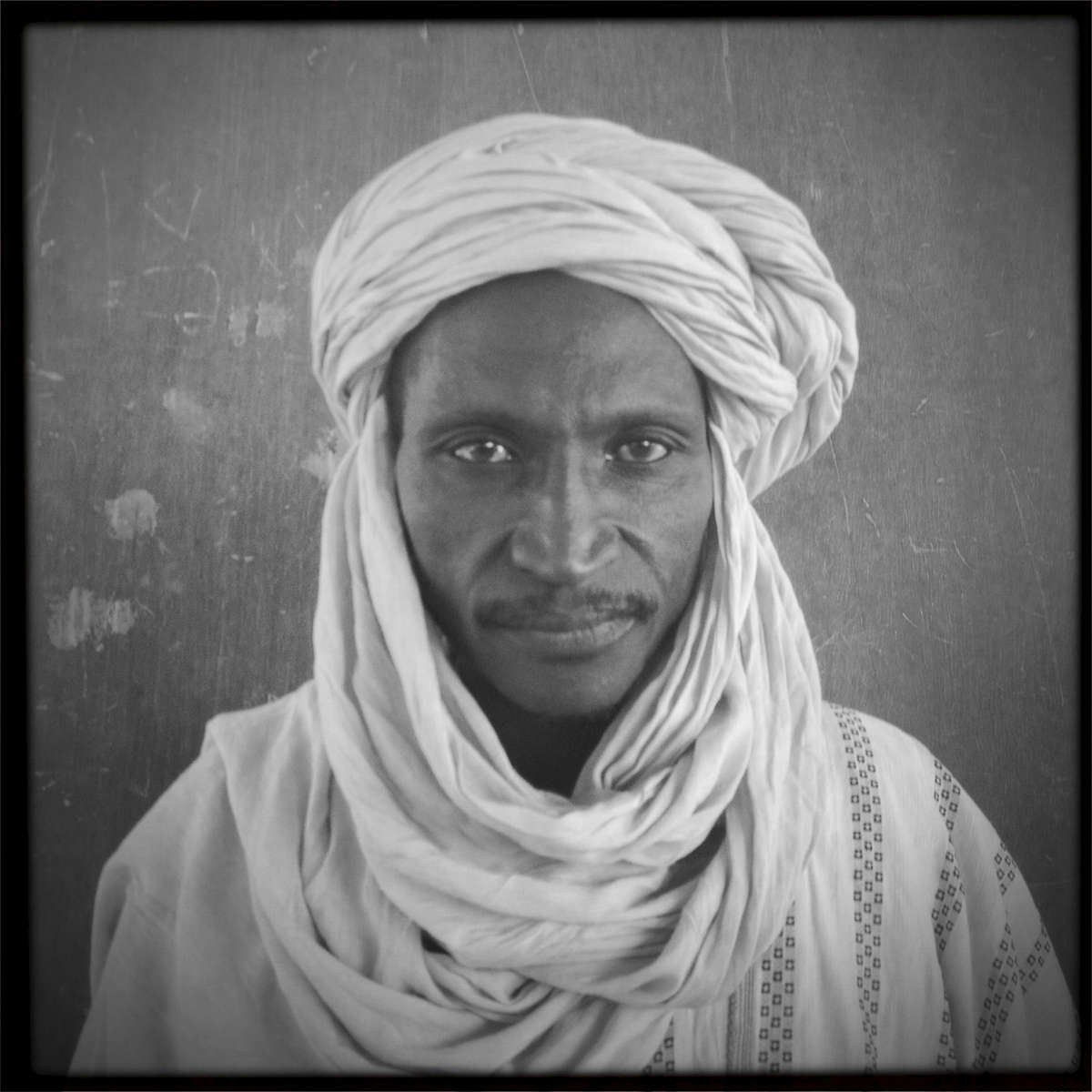 Moctat Maia, 50, fled from his home in Northern Mali because of the conflict with Islamist separatist. Bamako, Mali. January 2013.