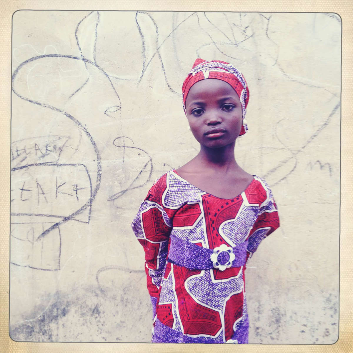 Wedding guest. Kano, Northern Nigeria. April 2013.