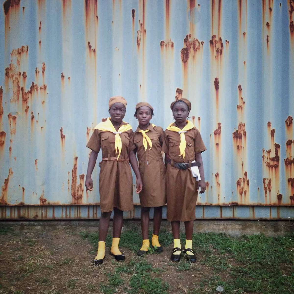 Girl scouts in Monrovia, Liberia. January 2013.