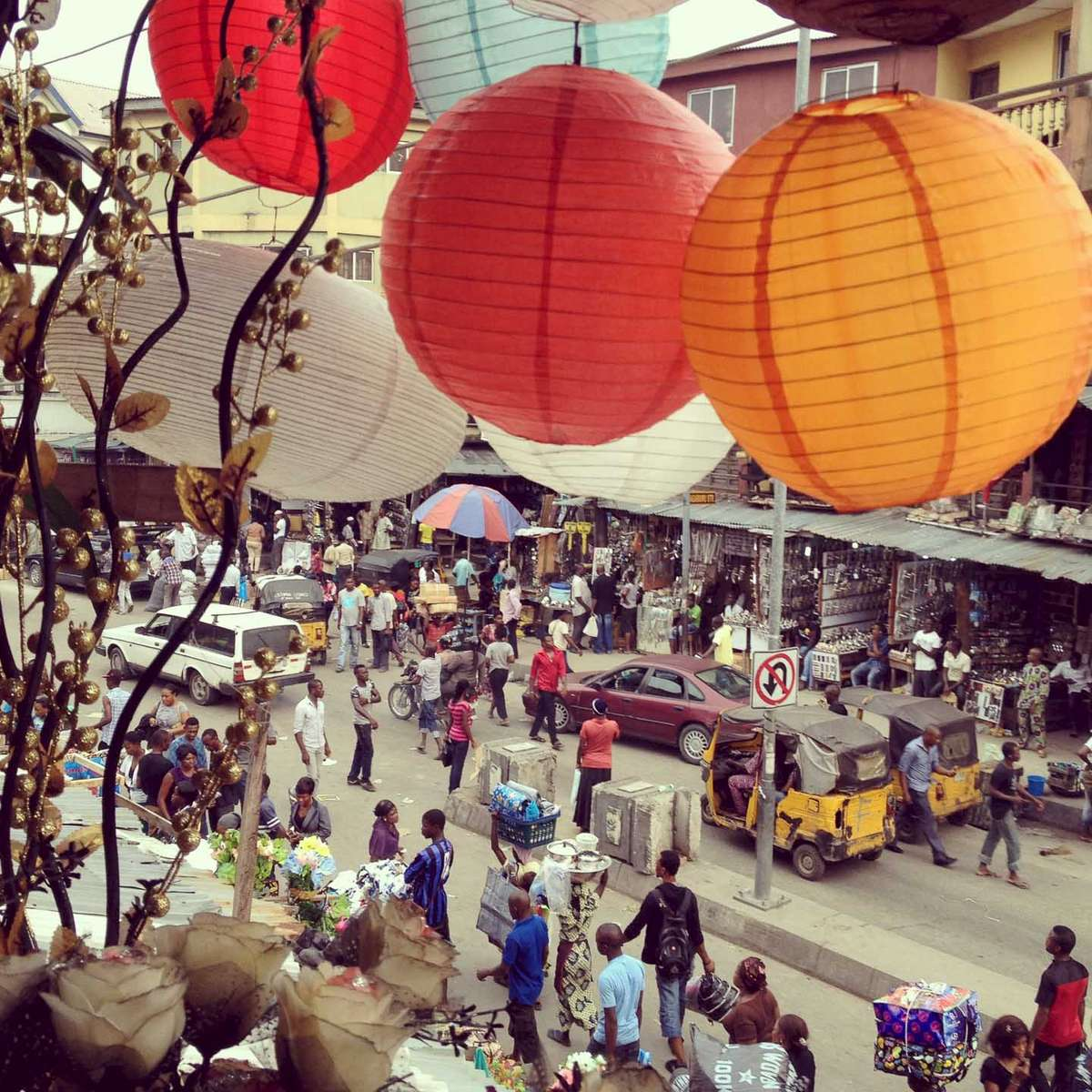 Markets of Lagos, Nigeria. October 2012.