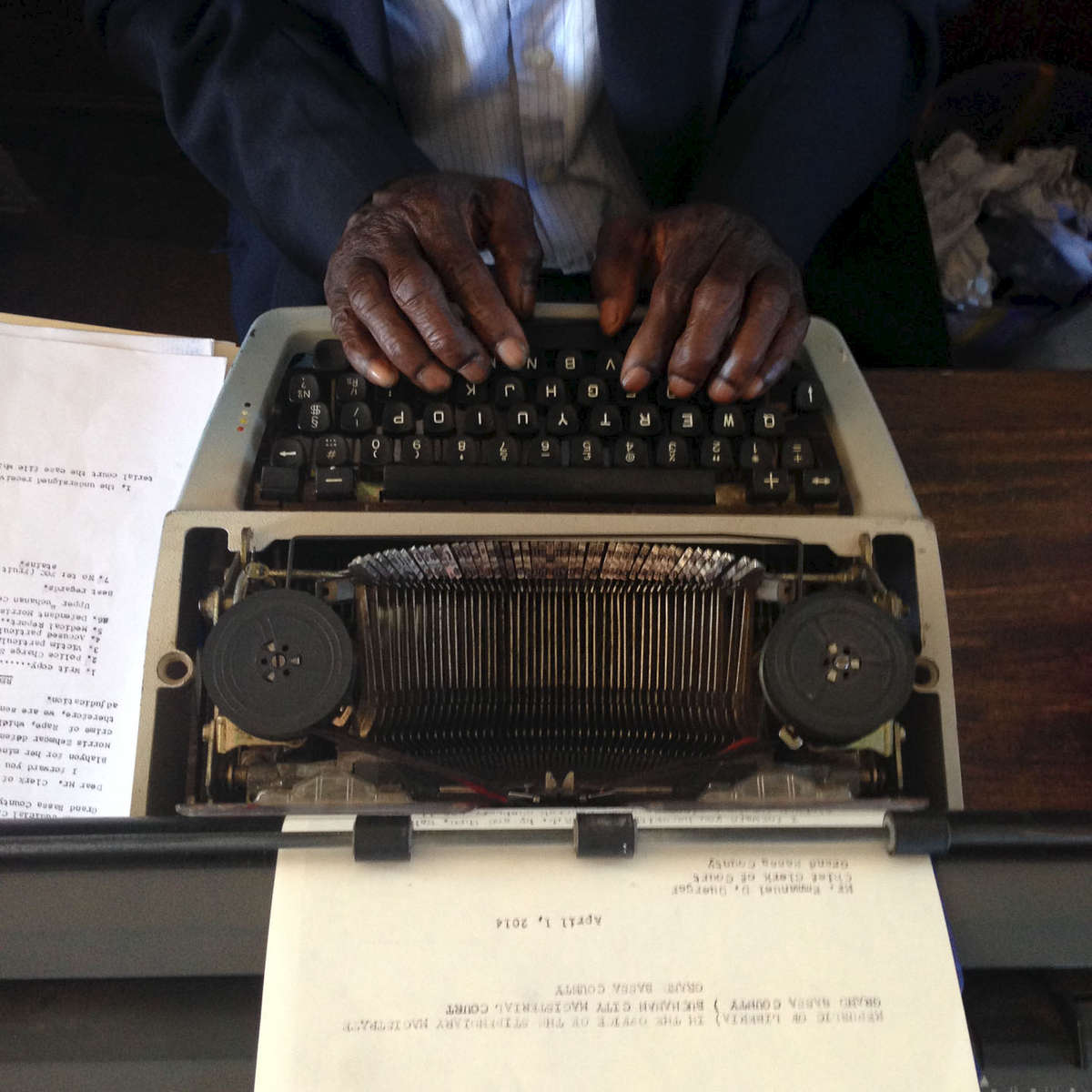 A court typewriter. Buchanan, Liberia. April 2014.