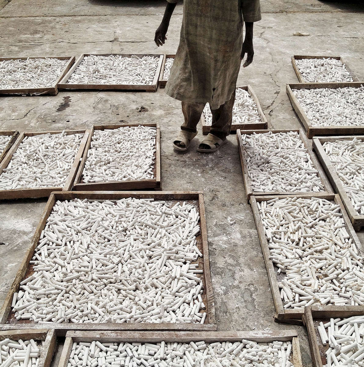 Making chalk. Kano, Nigeria. October 2013.