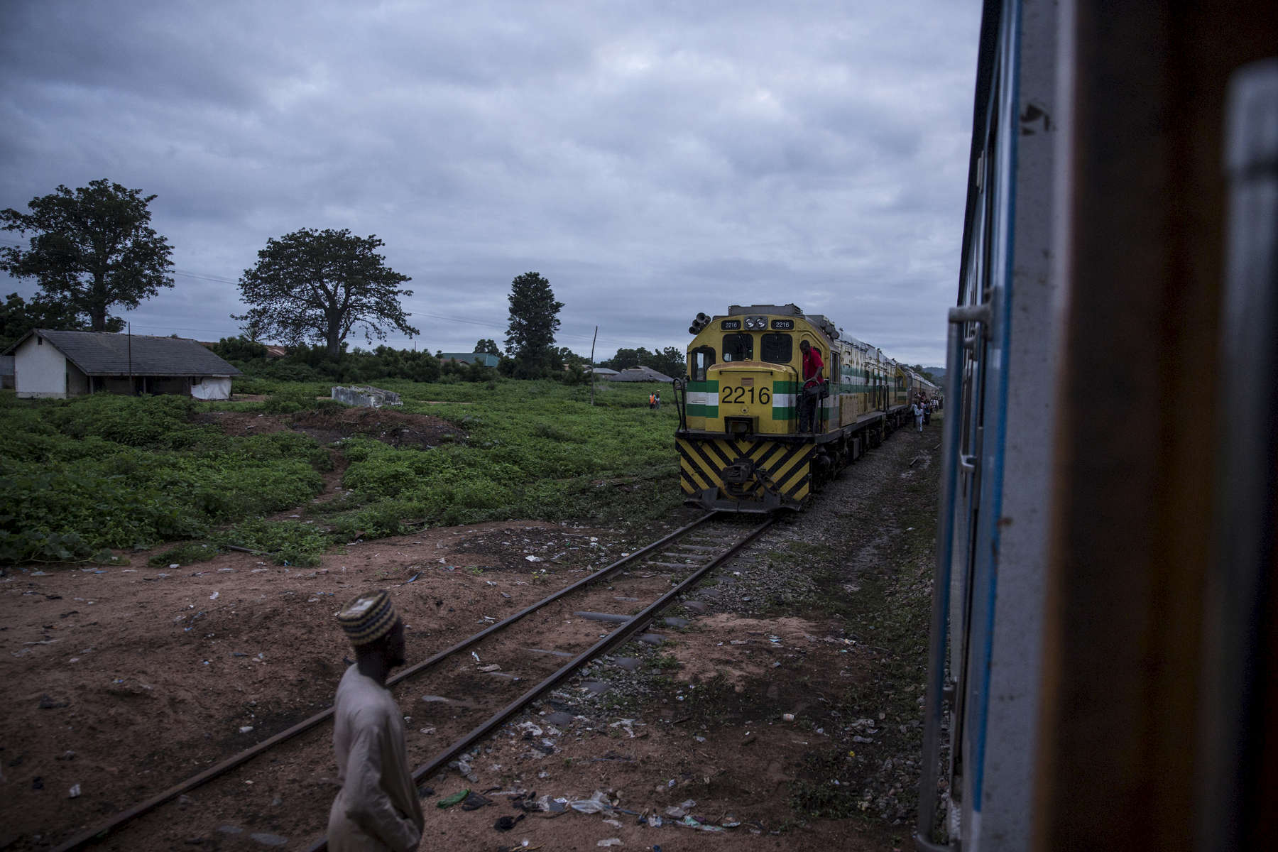 The train reaches Bode Sadu Railway Station in Niger State just past dawn.