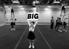 Megan and her fellow cheerleaders practice their routine one last time before competing in the State Cheerleading Championships.