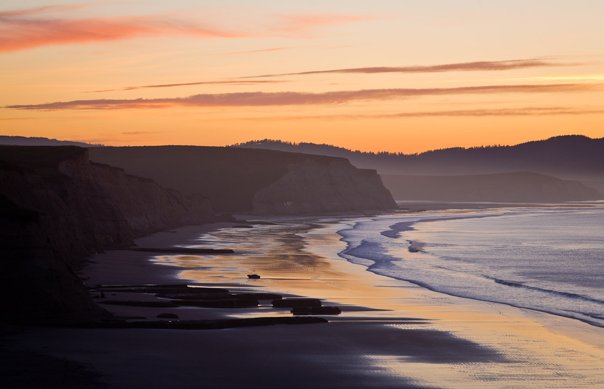 This is Drakes Beach just before sunrise in late March looking East. Photo by Jay Graham