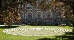 On September 11, 2003, a memorial labyrinth was dedicated to the 22 Boston College alumni lost in the 9/11 tragedy. Photographed by Jay Graham at Boston College for ValleyCrest Companies.