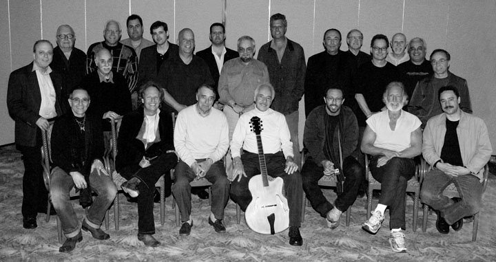 Back rows from left - Ron Eschete, Bob Bain, Ron Anthony, Mitch Holder, Jim Fox, ?, Tim May, Tommy Kay, Ted Mayer, ?, Mike Saluzzi, Charlie Myerson, Pat Kelley, Jim LaDiana, ? Tom RizzoSeated from left - Tom Rotella, Lee Rittenhaur, Mike Anthony, John Pisano, Anthony Wilson, Dennis Budimur, Larry Koonse
