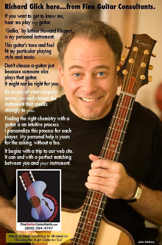 Richard Glick - Fine Guitar Consultants