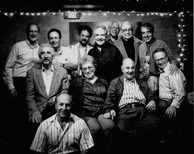 legends - Papashon 1998 Back Row left-       Charlie Myerson, Bill Pitman, John Kurnick, John Pisano Mitch Holder, Bob Bain, Mike Anthony Middle Row-   Al Viola, Carol Kaye, Ron Anthony, Barry Zweig   front- Jim Hughart. .
