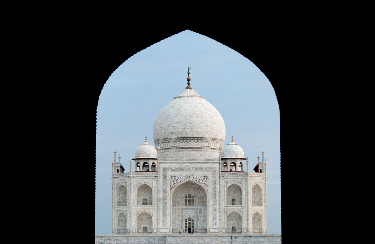 The Taj Mahal, one of the most impressive architectural structures in the world.  It is now one of the Seven Wonders of the World.