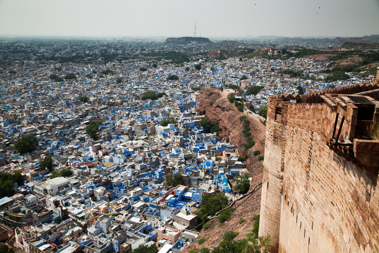 Jodpur is a city in Rajasthan and is known as the {quote}Blue City{quote}