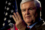 Former House Speaker Newt Gingrich on campaign trail for presidency