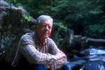 Former President Jimmy Carter relaxes near his north Georgia mountain home in 1988.