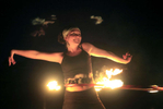 Anna Stone had a hula hoop as a child, but never dreamed the simple toy would become the key to her career. She is a professional hoop teacher. And for a little extra excitement, shesets her hoop on fire.