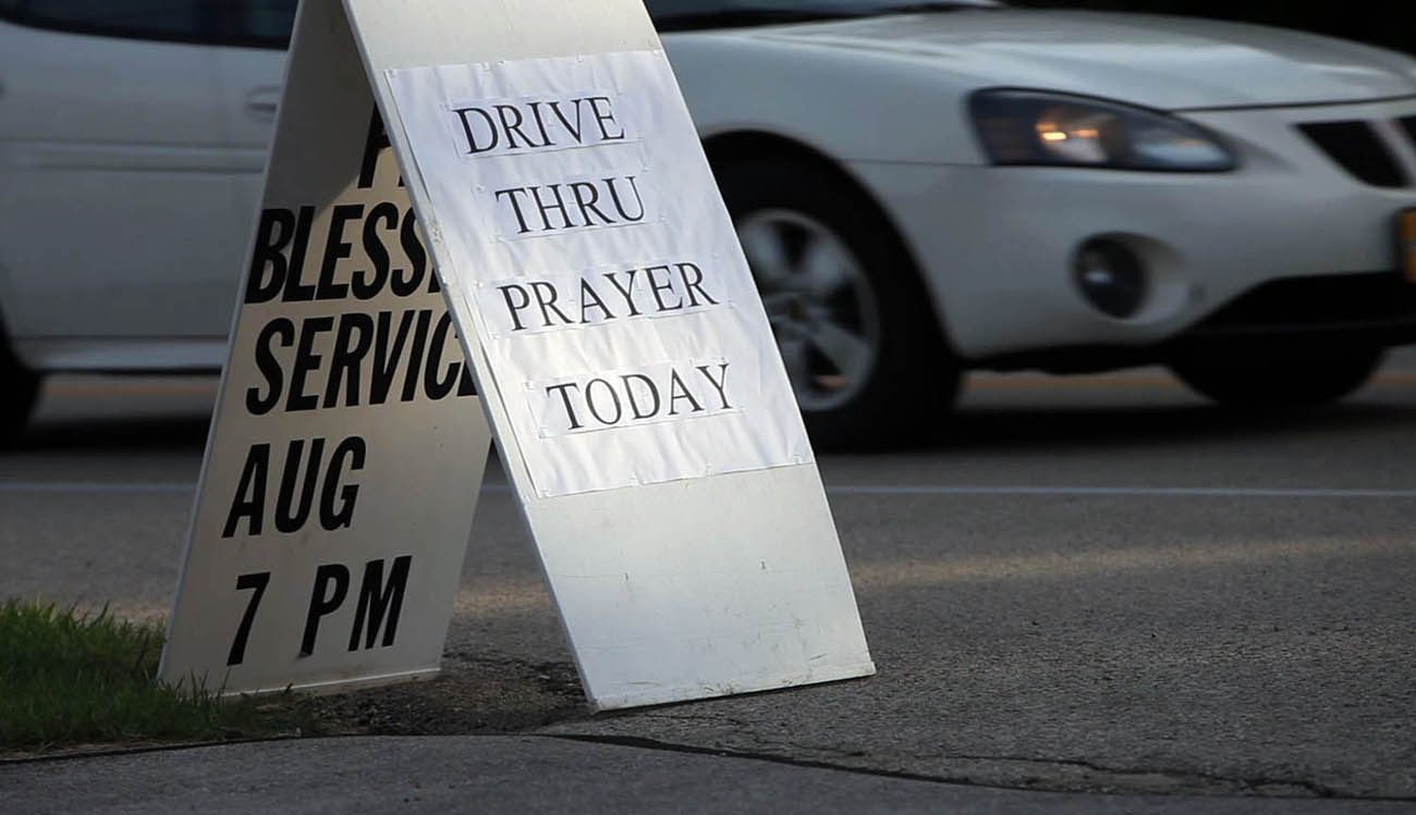 Memorial Lutheran Church in Glendale has been offering drive-thru prayer services this week. Although only a handful of people took advantage of the service, Pastor Mark Thompson is undeterred.