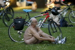 Thousands took part in Portland's World Naked Bike Ride, June 25, 2016, which started at Mt. Scott Park. The ride is a protest against oil dependence and for cyclist safety. Kristyna Wentz-Graff/Staff
