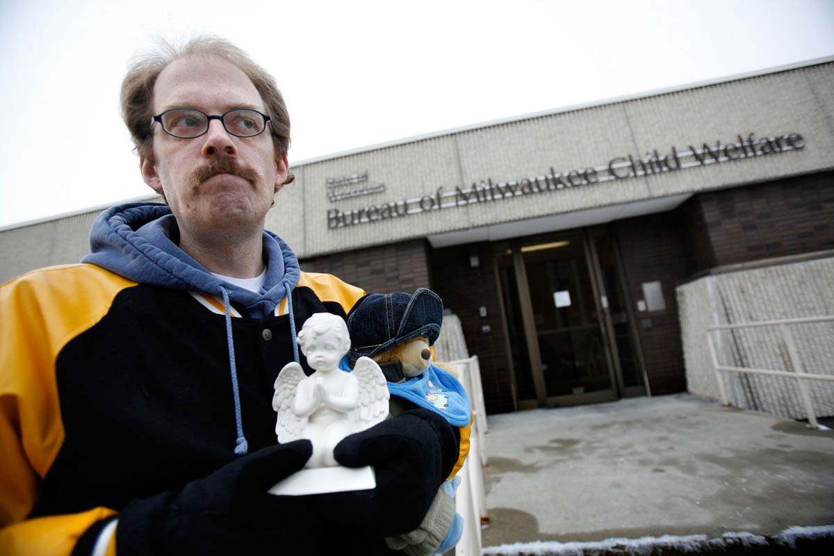 After Christopher Thomas's death was publicized, people began coming forward sharing stories of how their children had died in foster care, including Rob Whitman. He arrived at a protest at the Bureau office, carrying a small angel urn that holds the cremains of his son. {quote}This is how my son was returned to me,{quote} he says. Robert Whitman, Jr., 2-months-old, died while in the custody of foster parents, just two days after being removed from Whitman's home.