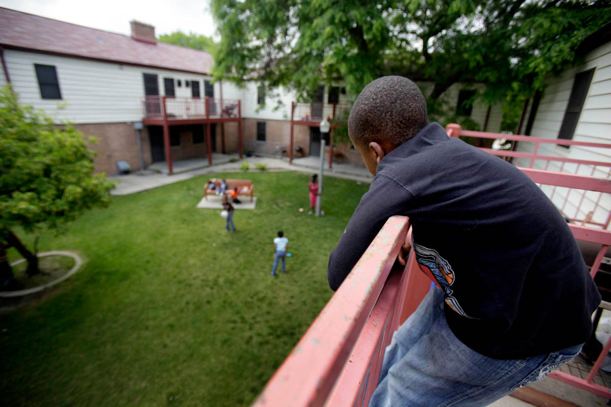 Shakiem looks down from his balcony, wishing he could play with the children below. Since returning to his mother's home, she has grown increasingly irrational, not allowing him to leave the apartment, constantly screaming at he and his brother, and even engaging in physical altercations. One month after the boys were reunited with Brandy, they were removed from her custody, returning to foster care for the third time in their short lives.