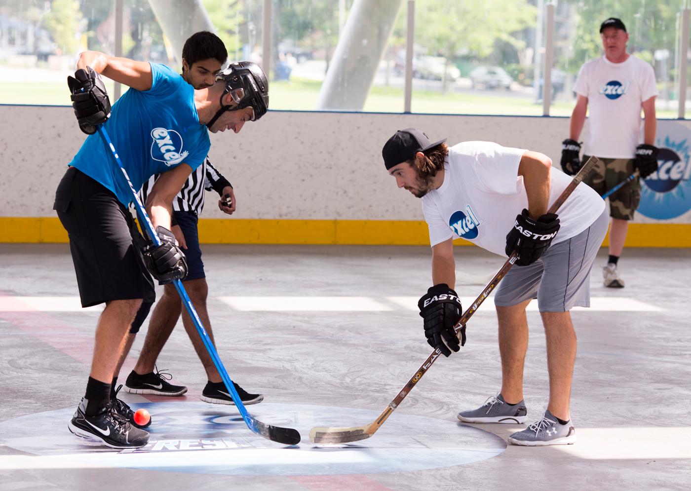 Excel hockey event.