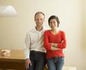 Designers Marcin Padlewski and Anissa Szeto photographed for Carleton University Magazine.