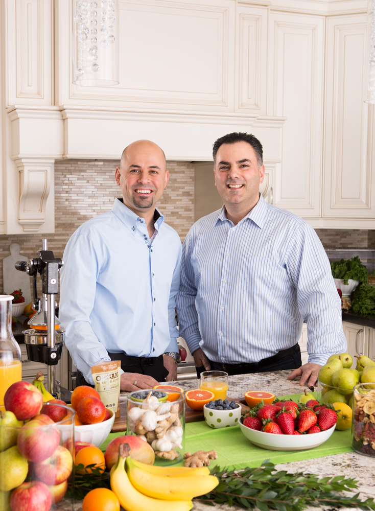 Mike Dattoli (left) and Mike Fronte of Mike & Mike's Organics for Dolce Media Group.