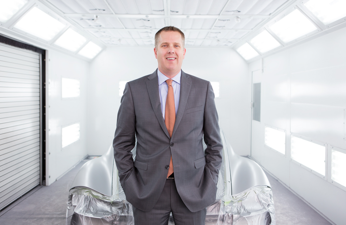 Jeff Pabst, general manager at Pfaff Autoworks for Bodyshop Magazine.