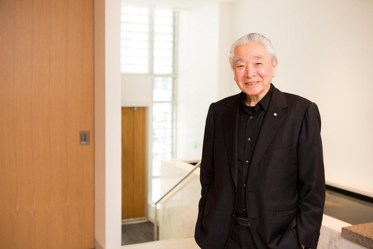 Architect, Raymond Moriyama, photographed for Dolce Vita Magazine.