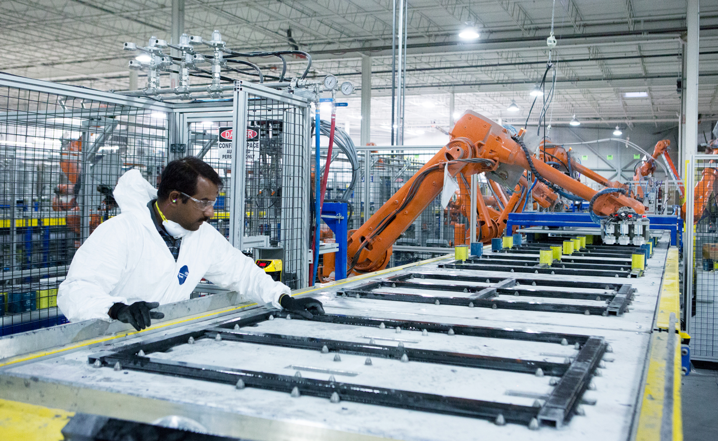 RM2 Canada's composite pallet factory in Woodbridge, ON.