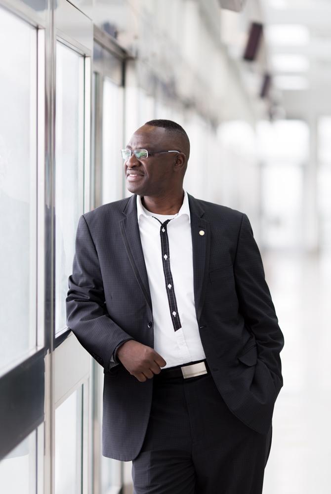 Samuel Oboh photographed for Dolce Vita magazine.