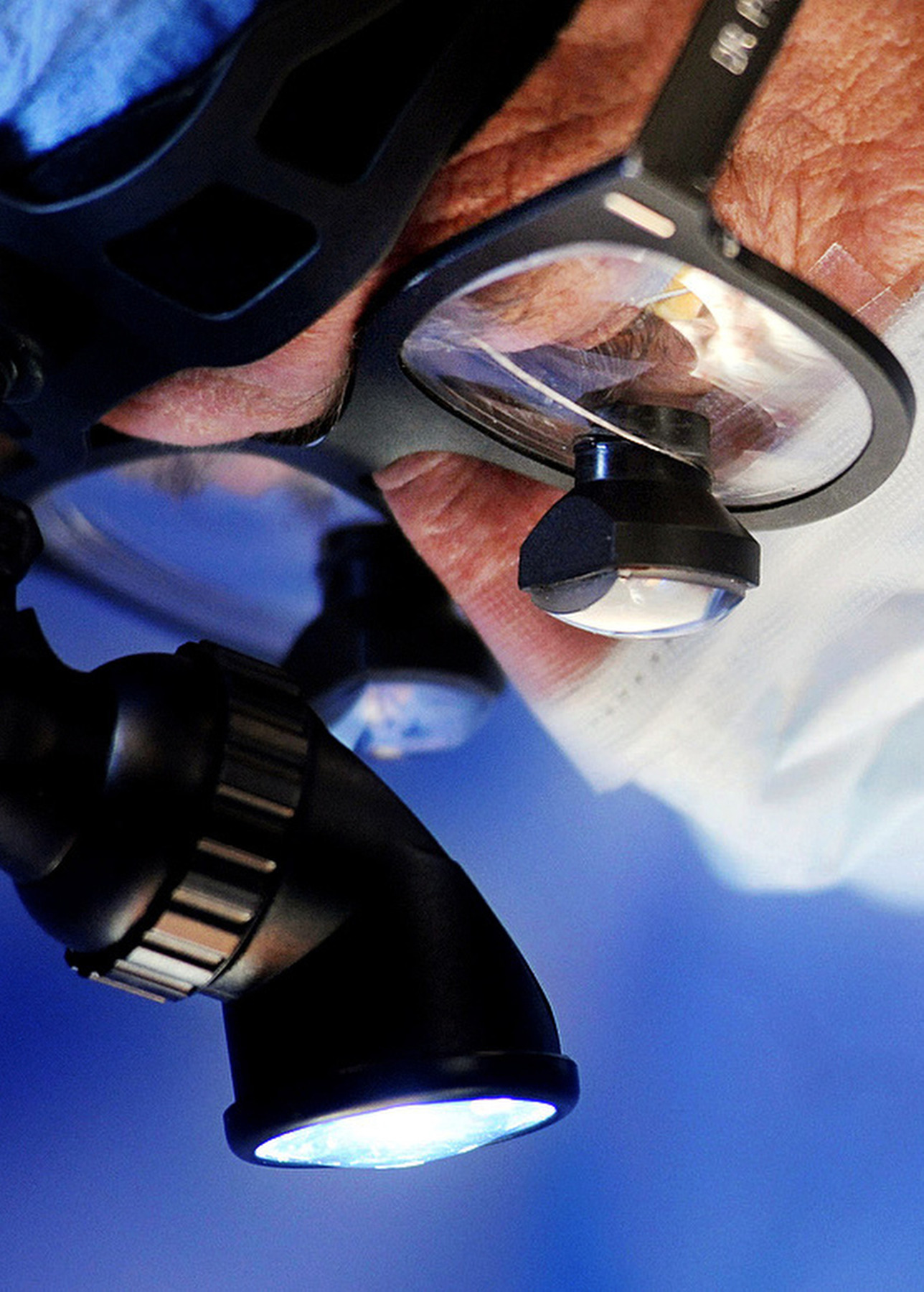 Close-up photo of a surgeon at work at National Surgical Care in Lovelan, Colorado.