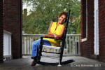 A portrait of a Mercy Housing resident at her home in Savannah, Georgia for the Mercy Housing annual report.