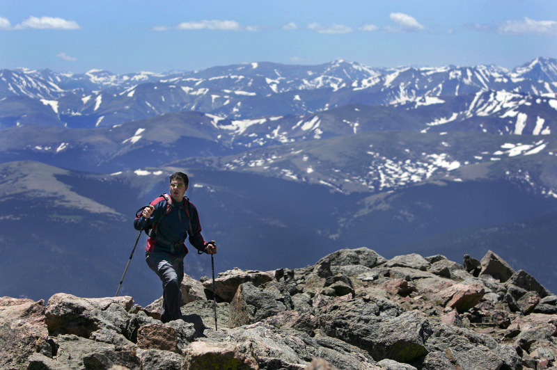 Climber on a Fourteener in Colorado