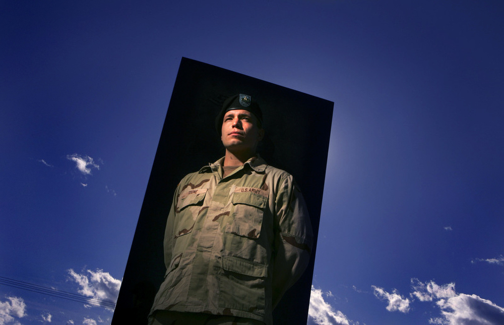 Portrait of Army Veteran