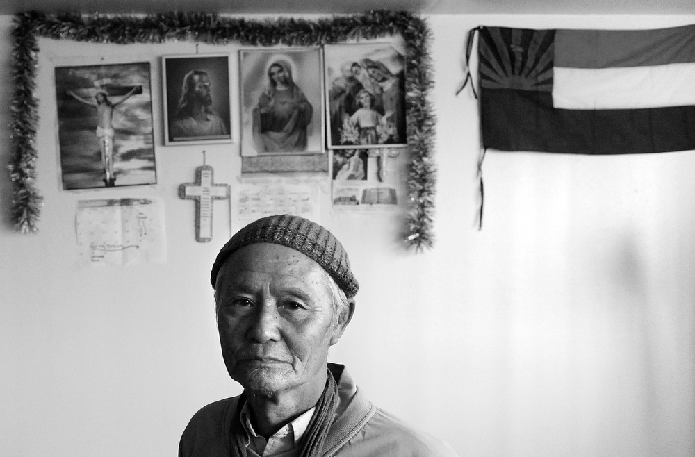 Portrait of Burmese refugee