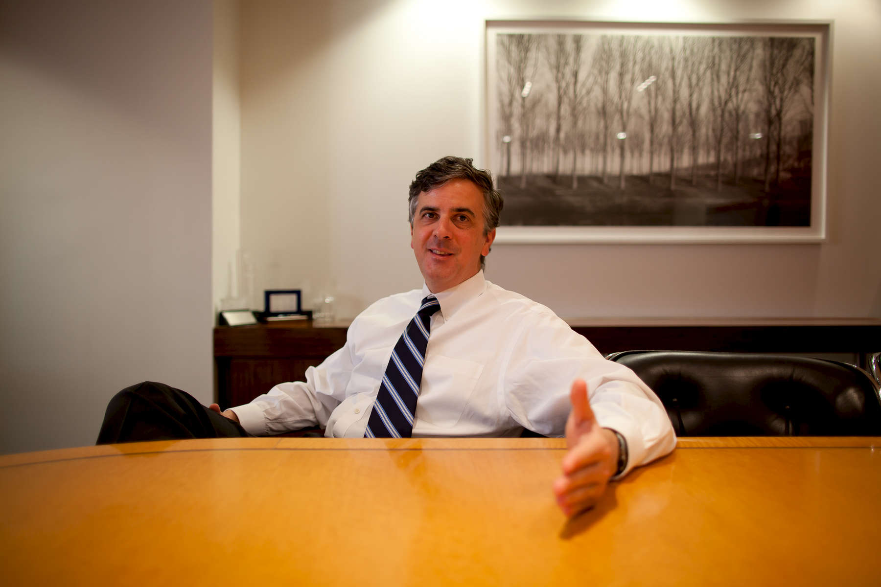 Mark G. Anderson, founder of MGAC in Washington, D.C. His firm specializes in high-end construction and project management.