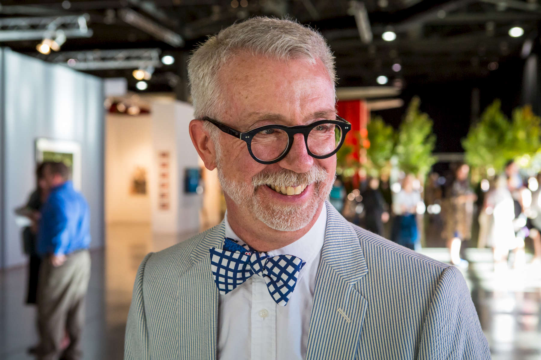 Seattle, WA  July 30, 2015: The Seattle Art Fair Opens at the WaMu theater downtown.  Billionaire Paul Allen's personal art curator/advisor Greg Bell for Vulcan Ventures. Photograph by Evan McGlinn for The New York Times.