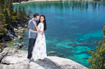 Tahoe-blue-water-engagement-session