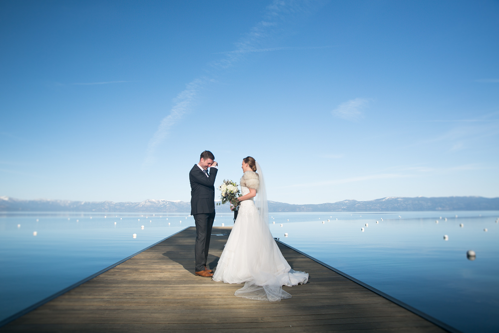 first-look-Tahoe-wedding