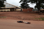 Dec 5,after an Anti Balaka attack to take the city of Bossangoa from the Seleka milicias ,bodies lie on the streets