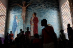refugees take palce in the church of St jacques in Castor district,Bangui.
