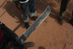 {quote}Danger of death{quote} an anti balaka fighte  wrote his battle name on his machete.