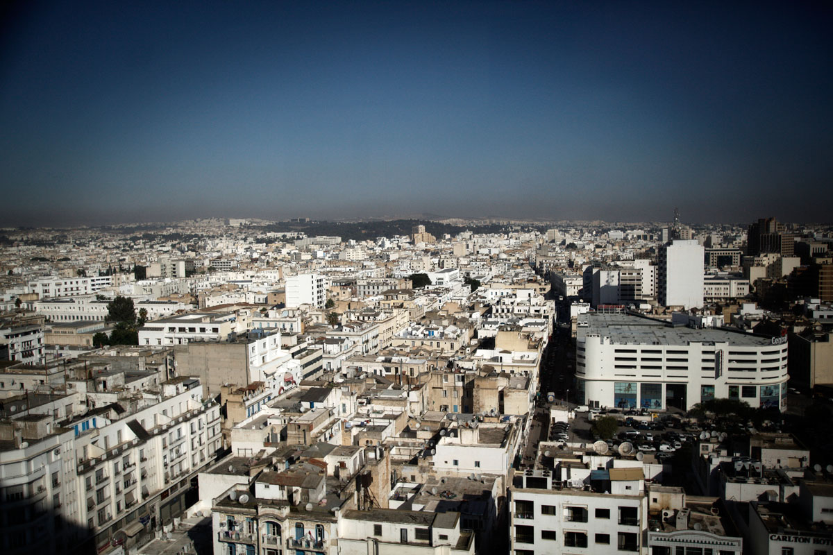 Overview of Tunis,Tunisia.
