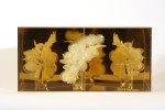 Brigitte NaHoNGlue, glass, plexiglass 30,4 x 62,8 x 15,4 cm (12 x 24 5/8 x 6 1/8 Inches)