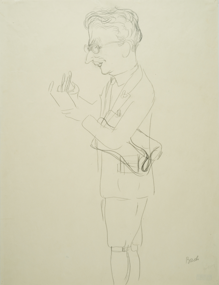 "George GROSZ (1893-1959)Pencil on paper60,7 x 46,1 cmAnnotated lower rightStamped on the reverse ""GEORGE GROSZ NACHLASS"" and numbered UC-407-19Costume designs for ""Der Kandidat"" by Carl Sternheim, play in four acts after the work of Gustave Flaubert; Performance: Deutsches Theater, Kammerspiele, Berlin, January 27, 1930"