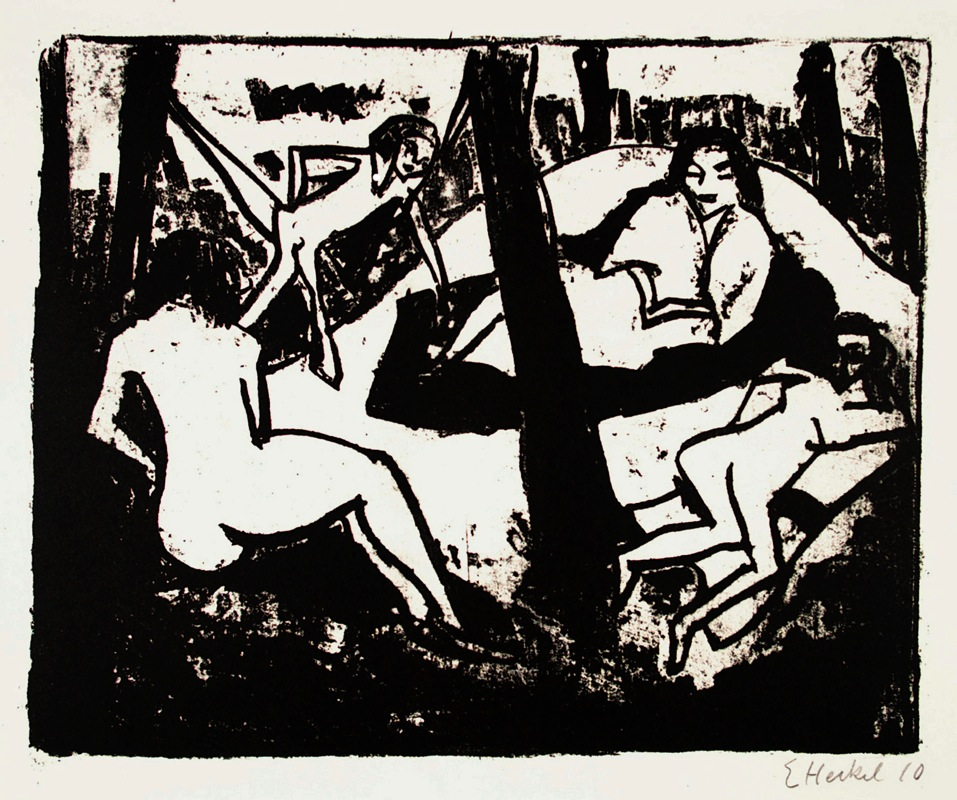 Erich Heckel (1883-1970)LithographOn chamois etching-boardSigned and dated bottom-right27,6 x 34 cm on 40 x 53,7 cmDube L 153LithographieAuf chamois KupferdruckkartonUnten rechts signiert und datiert27,6 x 34 cm auf 40 x 53,7 cmWVZ-Nr. Dube L 153