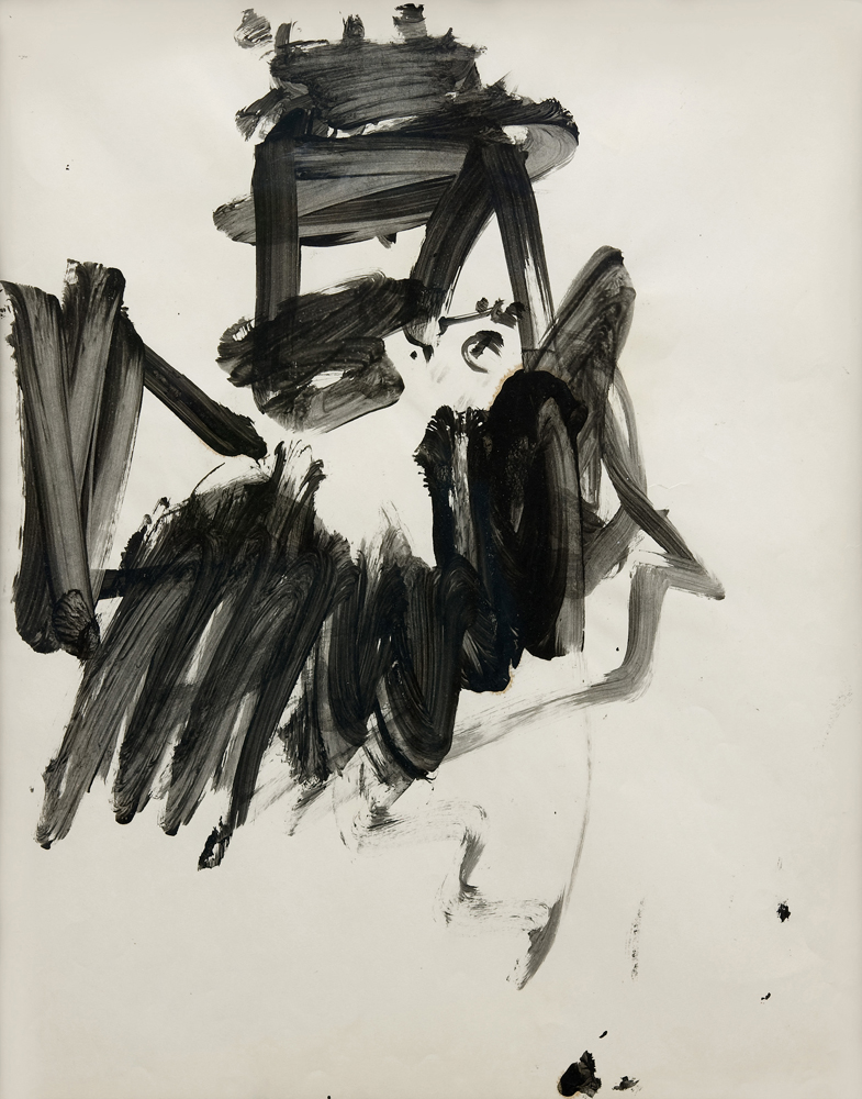 Willem DE KOONING (1904 – 1997)India ink on paper61 x 47 cm (24 x 18 1/2 in.)With a letter by Mr. Michael Luyckx, the nephew of Elaine de Kooning who was the executor of the Estate of Elaine de Kooning, confirming that the work was sold directly by the Estate.ProvenanceElaine De KooningPrivate collection (Acquired from the estate of the above)